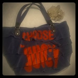 Juicy Couture Gen Y ruffle Terry tote bag rare